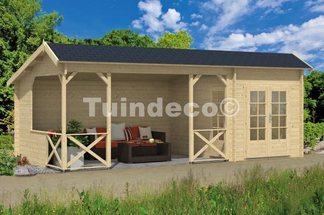 Blokhut Kukka met veranda Kapschuur GEPLAATST