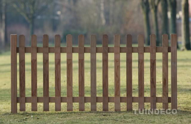 Tuinhek recht hardhout 60x180