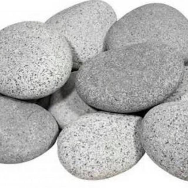 Grind 25kg Beach Pebbles 4x6 CM Grijs