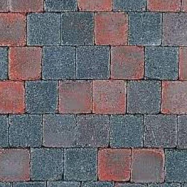 Klinkers Stenen Abbeystones Getrommeld 10x10x6cm Roodzwart