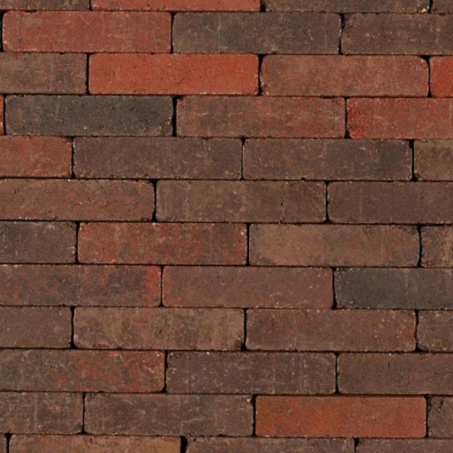 Klinkers Stenen Abbeystones Getrommeld 5x20x7cm Roodzwart