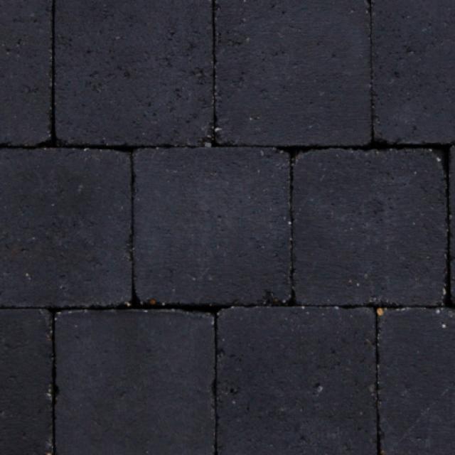 Klinkers Stenen Abbeystones Getrommeld 14x14x6cm Antraciet