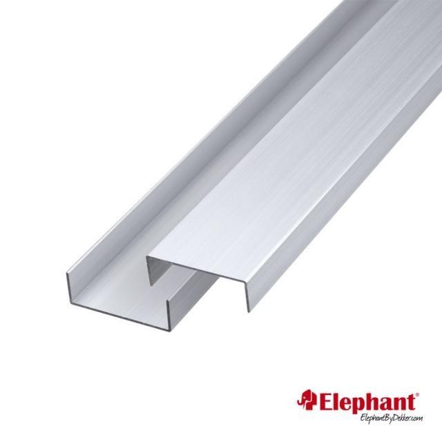 Aluminium afdekprofiel set per 2 stuks