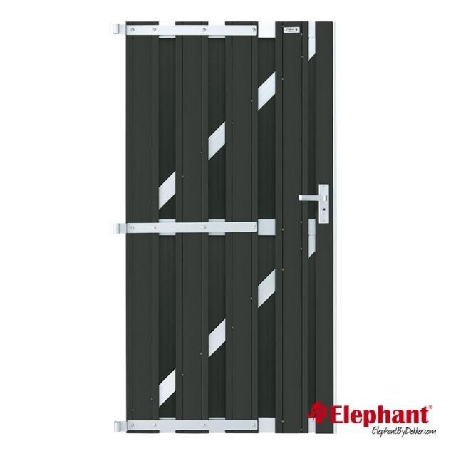 Design poort antraciet / aluminium incl. plaatsen