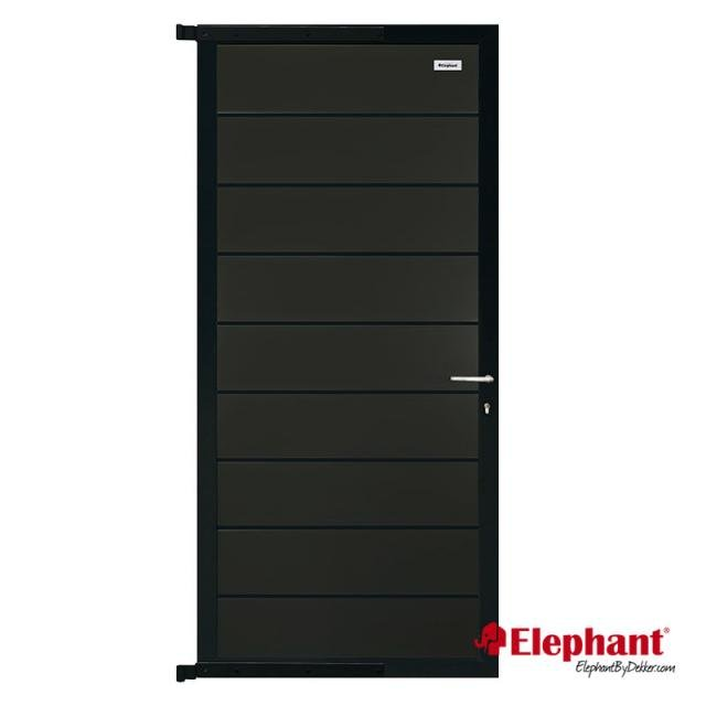Composiet modulair poort antraciet rock grey / alu geadoniseerd incl. plaatsen