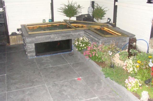 Chinees hardsteen terrastegels 60x60x2,5cm