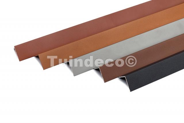 Hoekplint aluminium oud grijs