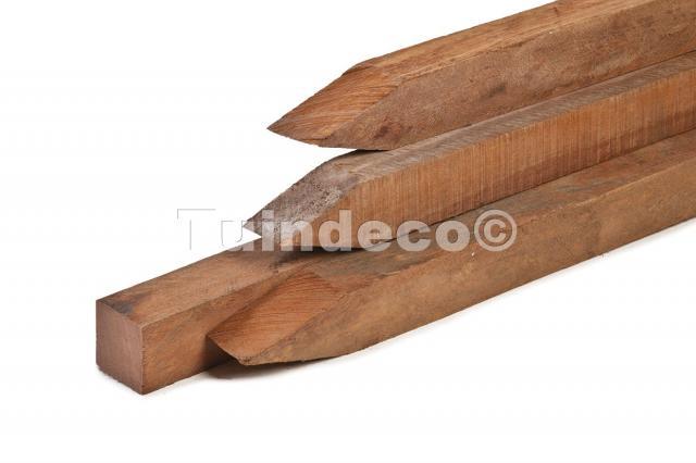 Hardhouten azobe palen fijnbezaagd 300cm